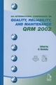Quality, Reliability and Maintenance QRM 2002 (1860583695) cover image