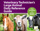 Veterinary Technician's Large Animal Daily Reference Guide (EHEP002995) cover image