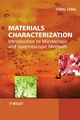 Materials Characterization: Introduction to Microscopic and Spectroscopic Methods (0470822996) cover image