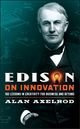 Edison on Innovation: 102 Lessons in Creativity for Business and Beyond (0787994596) cover image
