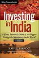 Investing in India: A Value Investor's Guide to the Biggest Untapped Opportunity in the World, + Website (1118756096) cover image