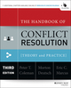 The Handbook of Conflict Resolution: Theory and Practice, 3rd Edition: Conflict in Organizations (1118814096) cover image