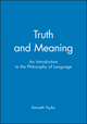 Truth and Meaning: An Introduction to the Philosophy of Language (1577180496) cover image
