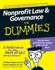 Nonprofit Law & Governance For Dummies (0470087897) cover image