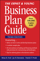 The Ernst & Young Business Plan Guide, 3rd Edition (0470112697) cover image