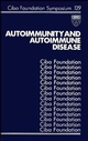 Autoimmunity and Autoimmune Disease, No. 129 (0470513497) cover image