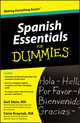 Spanish Essentials For Dummies (0470649097) cover image