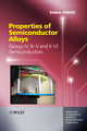 Properties of Semiconductor Alloys: Group-IV, III-V and II-VI Semiconductors (0470743697) cover image