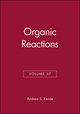 Organic Reactions, Volume 37 (0471501697) cover image