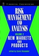 Risk Management and Analysis, Volume 2, New Markets and Products (0471979597) cover image