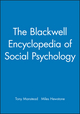 The Blackwell Encyclopedia of Social Psychology (0631202897) cover image