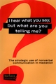 I Hear What You Say, But What Are You Telling Me?: The Strategic Use of Nonverbal Communication in Mediation (0787957097) cover image