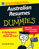 Australian Resumes For Dummies (1118353897) cover image