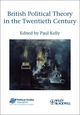 British Political Theory in the Twentieth Century  (1405199997) cover image