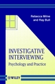 Investigative Interviewing: Psychology and Practice (0471987298) cover image