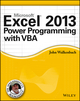 Excel 2013 Power Programming with VBA (1118490398) cover image
