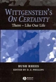 Wittgenstein's On Certainty: There - Like Our Life (1405105798) cover image