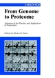 From Genome to Proteome: Advances in the Practice & Application of Proteomics (3527613498) cover image