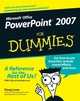 PowerPoint 2007 For Dummies (0470040599) cover image
