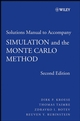 Student Solutions Manual to accompany Simulation and the Monte Carlo Method, 2nd Edition (0470258799) cover image