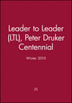 Leader to Leader (LTL), Peter Druker Centennial, Winter 2010 (0470596899) cover image