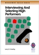 Interviewing and Selecting High Performers (0787951099) cover image