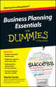 Business Planning Essentials For Dummies (1118641299) cover image