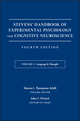 Stevens' Handbook of Experimental Psychology and Cognitive Neuroscience, Volume 3, Language and Thought: Developmental and Social Psychology, 4th Edition (1119170699) cover image