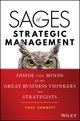 Sages of Strategic Management: Inside the Minds of the Great Business Thinkers and Strategists (1119228999) cover image