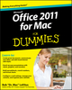 Office 2011 for Mac For Dummies (047087869X) cover image
