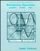 Student Solutions Manual to accompany Differential Equations: Graphics, Models, Data (047132759X) cover image