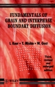 Fundamentals of Grain and Interphase Boundary Diffusion, 3ed Revised and Enlarged Edition (047193819X) cover image