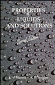 Properties of Liquids and Solutions, 2nd Edition (047194419X) cover image