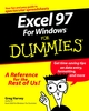 Excel 97 For Windows For Dummies (076450049X) cover image