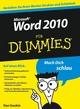 Word 2010 für Dummies (352763889X) cover image