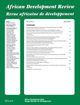 African Development Review (AFDR) cover image