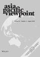 Asia Pacific Viewpoint (APV) cover image