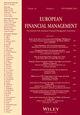 European Financial Management (EUFM) cover image
