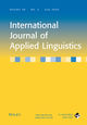 International Journal of Applied Linguistics (IJAL) cover image
