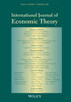 International Journal of Economic Theory (IJET) cover image