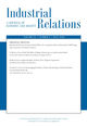 Industrial Relations: A Journal of Economy and Society (IREL) cover image