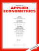 Journal of Applied Econometrics (JAE) cover image