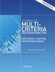 Journal of Multi‐Criteria Decision Analysis (MCD3) cover image