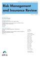 Risk Management and Insurance Review (RMIR) cover image