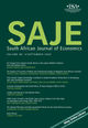South African Journal of Economics (SAJE) cover image