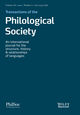 Transactions of the Philological Society (TRPS) cover image